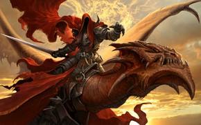 Картинка дракон, воин, MRAK 2