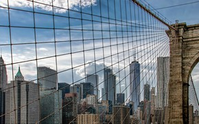 Обои Brooklyn Bridge, New York, Manhattan