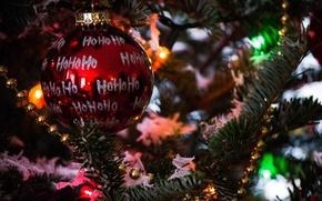 Картинка красный, игрушка, елка, новый год, шар