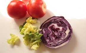 Картинка Помидоры, Капуста, Tomatoes