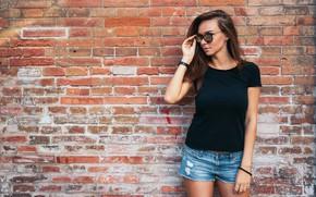 Картинка girl, wall, pretty