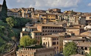 Картинка здания, дома, Италия, панорама, Тоскана, Сиена