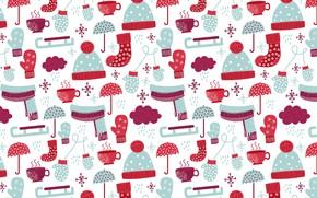 Обои pattern, текстура, зима, with, socks, winter