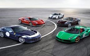 Картинка ferrari, cars, ferrari california, ferrari f12 berlinetta, ferrari 488