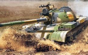Картинка РИСУНОК, НОАК, китайский средний танк, Тип 59