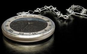 Обои часы, цепочка, циферблат, карманные часы