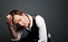 Обои лицо, рубашка, мужчина, Benedict Cumberbatch, Бенедикт Камбербэтч, взгляд