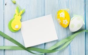 Картинка Пасха, yellow, wood, spring, Easter, eggs, decoration, Happy, tender
