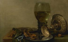 Картинка масло, картина, Виллем Клас Хеда, Натюрморт с Кубком