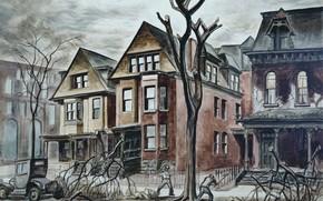 Картинка Charles Ephraim Burchfield, 1927-28, Civic Improvement