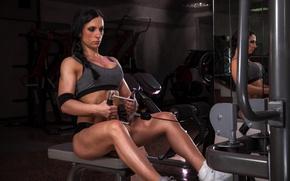 Картинка female, workout, fitness, gym, bodybuilder