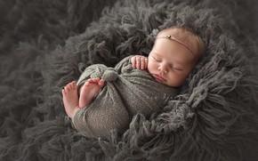 Картинка сон, малыш, мех, младенец