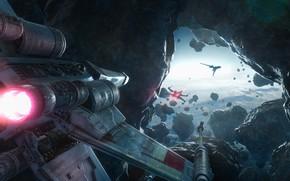 Обои Rogue One, Star Wars, Звёздные войны, x-wing