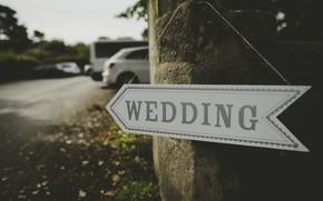 Картинка указатель, свадьба, wedding