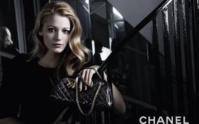 Картинка девушка, стиль, модель, сумка, бренд, Chanel