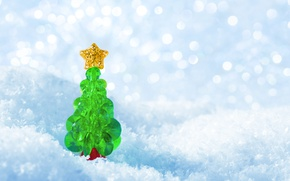 Картинка снежинки, елка, Новый Год, winter, snow