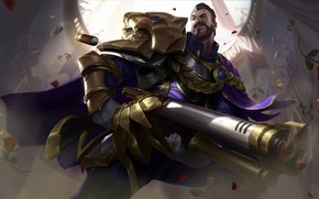 Картинка ружье, art, League of Legends, двустволка, graves, moba, outlaw, victorious graves