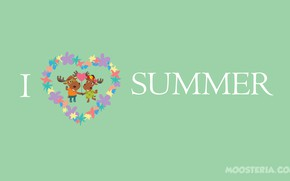 Картинка summer, love, happy, holidays, funny, happiness, moose, summertime, moosteria
