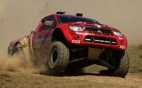 Картинка гонки, Mitsubishi, бездорожье, пикап, Off Road Racing