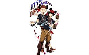 Картинка аниме, арт, парни, костюмы, Boku no Hero Academia, Моя геройская акадеимя