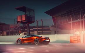 Картинка McLaren, Orange, Power, Supercar, Track, Rear, 570S