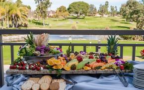 Картинка ягоды, печенье, фрукты, овощи, нарезка, банкет