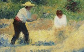 Картинка картина, жанровая, Жорж Сёра, Carrying Stones, Georges Seurat
