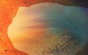 Картинка небо, отражение, лужа