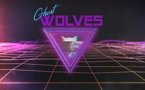 Картинка Музыка, Неон, Лого, Фон, Retro, Synthpop, Darkwave, Synth, Retrowave, Синти, Synthwave, Synth pop, Ghost Wolves