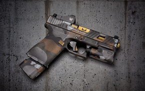 Картинка пистолет, фон, Glock