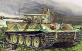 Обои Тигр, вермахт, времён Второй мировой войны, Panzerkampfwagen VI, немецкий тяжёлый танк