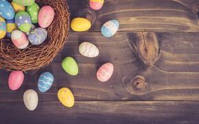 Картинка яйца, пасха, гнездо, Праздник