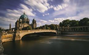 Картинка Berliner Dom, Spree, awesome sky