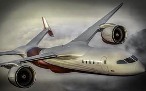 Картинка небо, полет, самолет