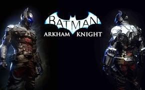 Картинка игра, логотип, доспехи, шлем, обмундирование, рыцарь Аркхэма, arkham knight, batman arkham knight