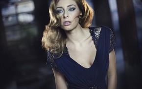 Картинка модель, макияж, платье, декольте, Jessica Amato