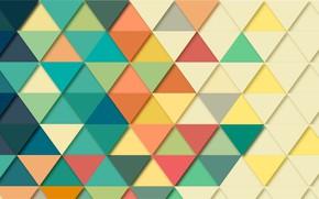 Картинка мозаика, абстракция, фон, треугольники, геометрия