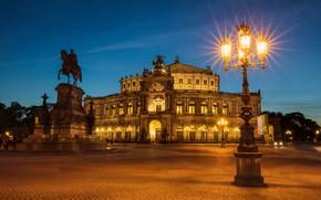 Картинка ночь, огни, Германия, Дрезден, Dresden