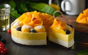 Картинка фрукты, манго, десерт, выпечка