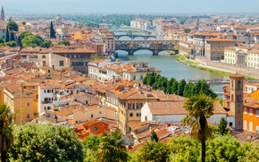 Обои Italy, travel, Europe, panorama, Florence, город, city, cityscape, view, Флоренция, Италия