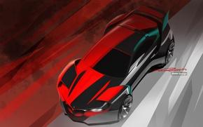 Обои бмв, Hommage, BMW Design, фон, эскиз