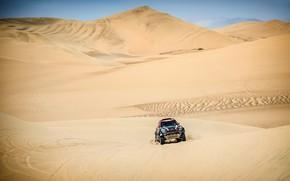 Картинка Песок, Mini, Пыль, Спорт, Пустыня, Скорость, Гонка, Rally, Dakar, Дакар, Внедорожник, Ралли, Дюна, X-Raid Team, …