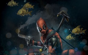 Картинка маска, наемник, deadpool, marvel comics, wade wilson