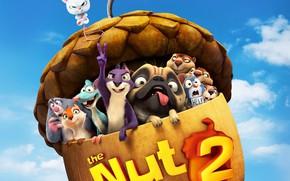 Картинка мультфильм, собака, мышь, белка, The Nut Job, Реальная белка