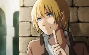 Картинка аниме, арт, Shingeki no Kyojin, Атака титанов, Вторжение гигантов, Армин Арлерт