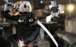 Картинка cosplay, Nier Automata, 2B, Yorha No.2