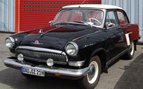 Обои СССР, классика, белое, РСФСР, ГАЗ 21, Volga, черное, Волга, гараж, фон, GAZ 21