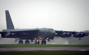 Картинка американский многофункциональный тяжёлый, Stratofortress, Boeing, сверхдальний межконтинентальный, B-52, ВВС ВС США, стратегический бомбардировщик-ракетоносец