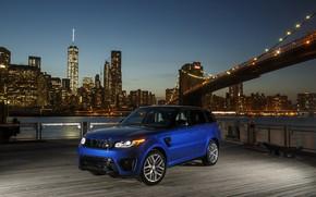 Картинка City, Land Rover, Blue, Range Rover Sport, SVR