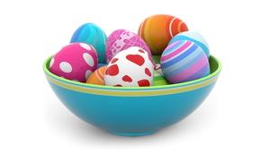 Картинка colorful, Пасха, spring, Easter, eggs